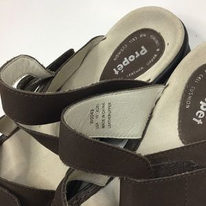 NEW Women/'s Propet W0043 Brown Leather Comfortable Casual Slide